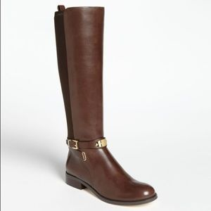 Michael Kors Brown Leather Arley Boot